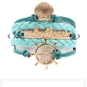 Jewelry - Rose Gold and Teal Mermaid Vegan Leather Bracelet